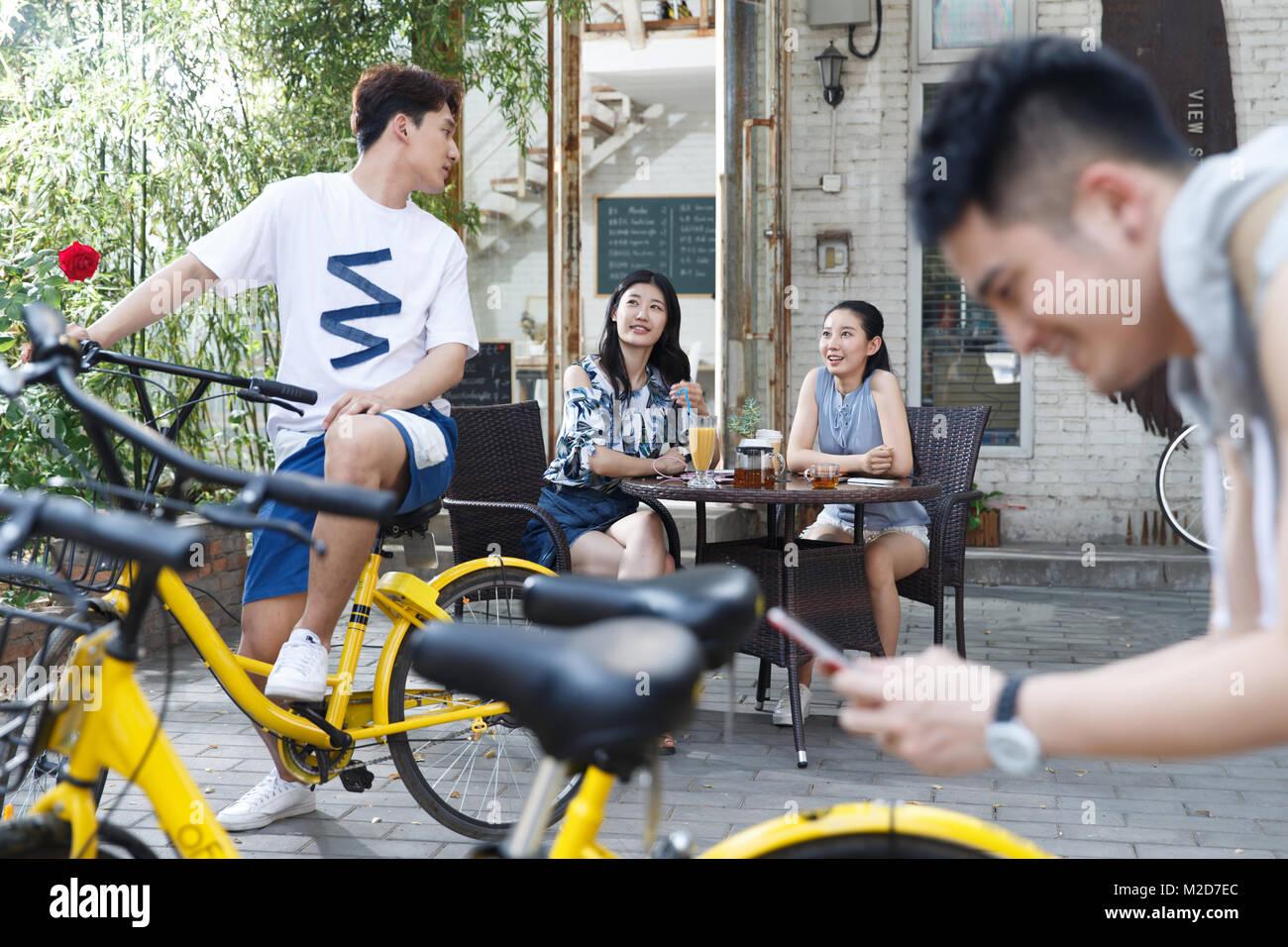 Youth gathering - Stock Image