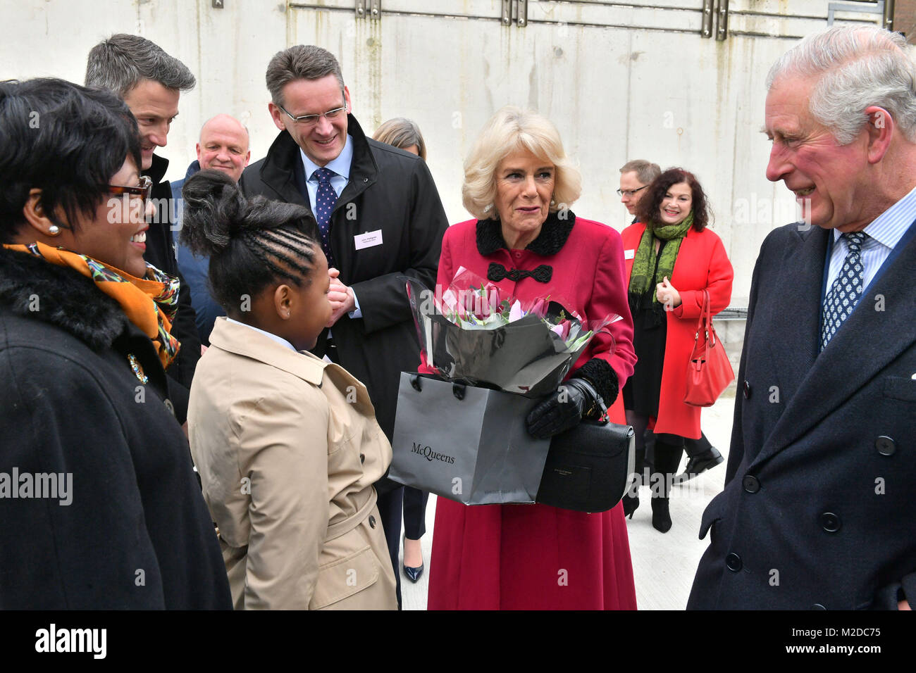 The Prince of Wales and Duchess of Cornwall arrive for the official opening The National Grid's London Power - Stock Image