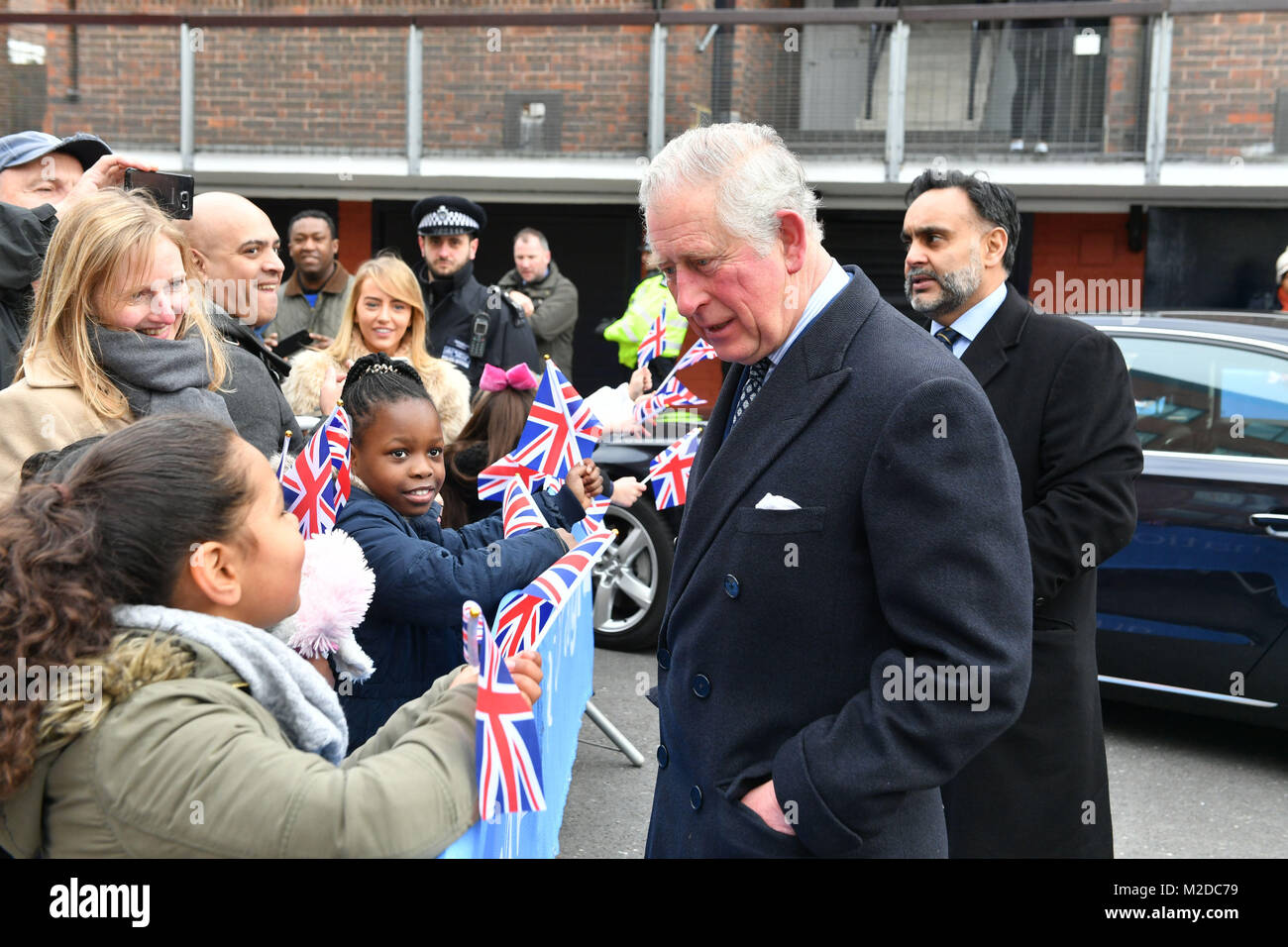 The Prince of Wales arrives for the official opening The National Grid's London Power Tunnels project in north - Stock Image
