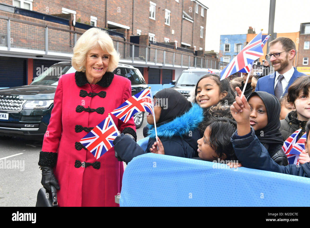 The Duchess of Cornwall arrives for the official opening The National Grid's London Power Tunnels project in - Stock Image