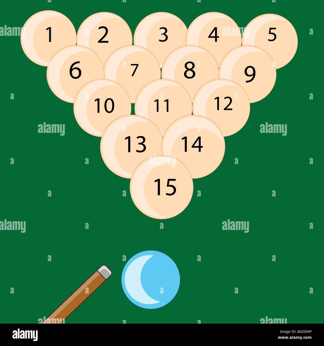 Desk play billiards - Stock Vector