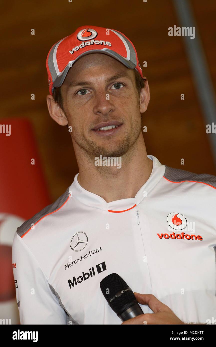 Der britische Formel 1-Rennfahrer Jenson BUTTON (Team Vodafone Stock ...