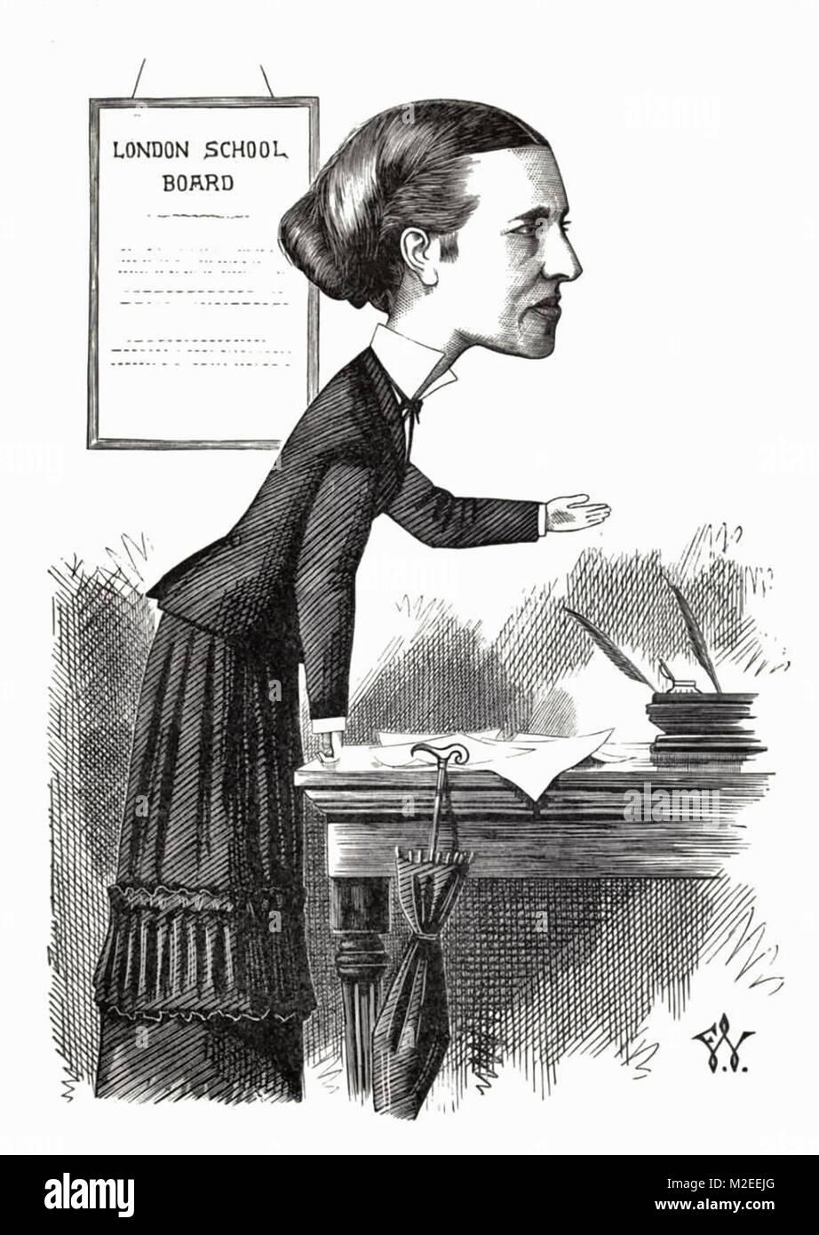 Caricature of Elizabeth Garrett Anderson, M.D., 1873 - Stock Image