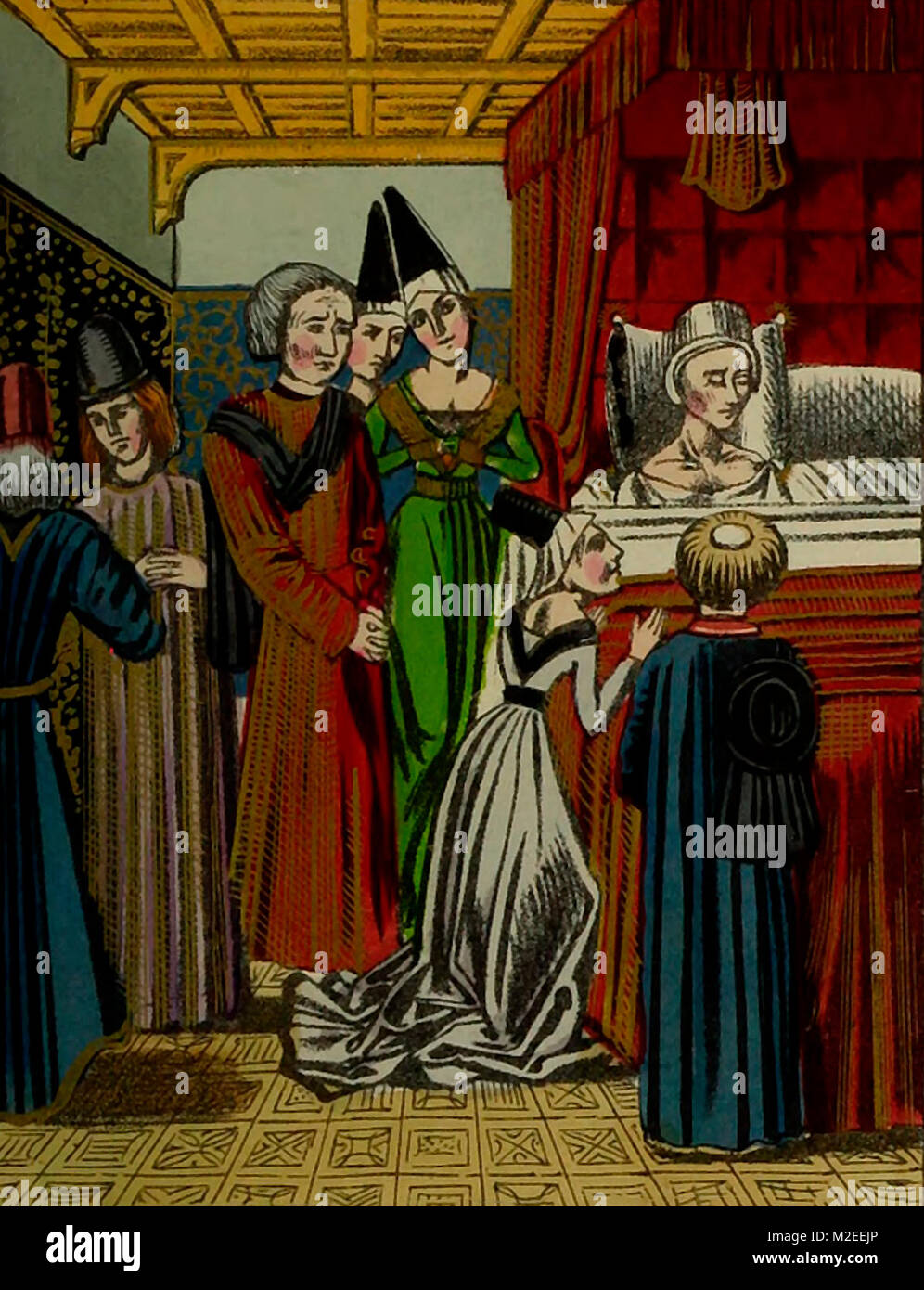 The death of Anne of Bohemia, Queen of Richard II - Stock Image