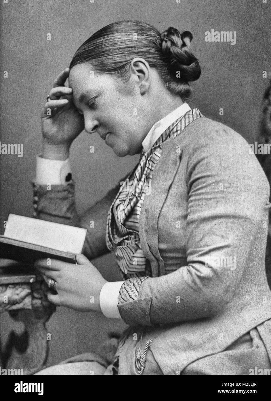 Elizabeth Garrett Anderson, circa 1889 - Stock Image