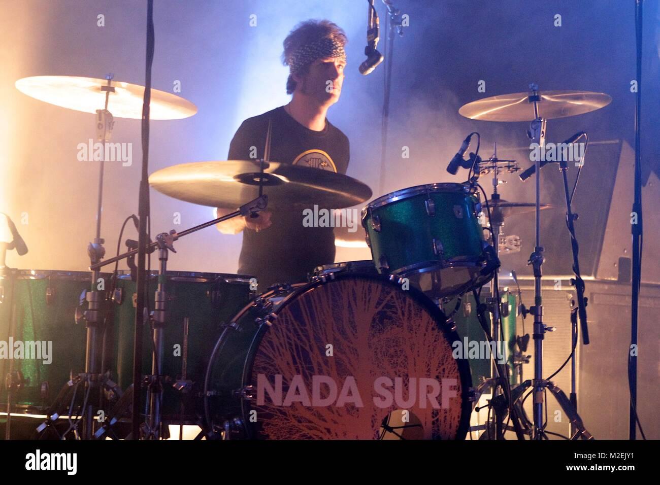Nada Surf - Konzert am 27.02.2012 in der Markthalle Stock Photo