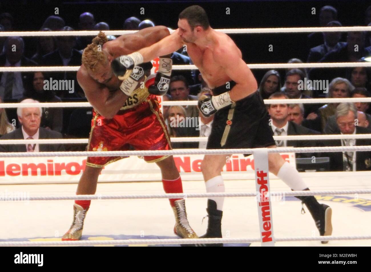 Vitali Klitschko vs  Shannon Briggs (WBC-WM Stock Photo