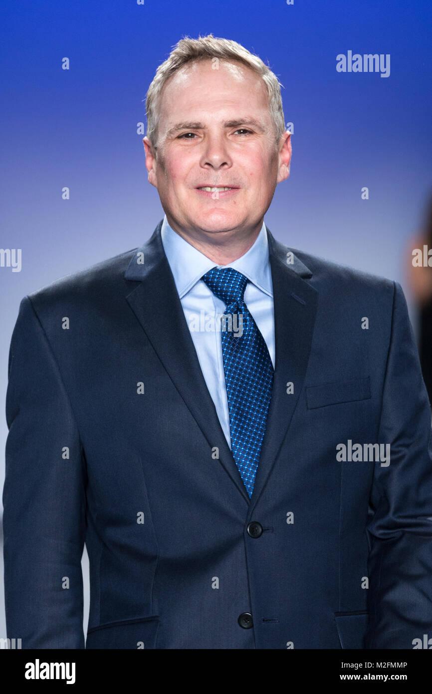 New York, NY - February 7, 2018: Todd Seals wearing jacket