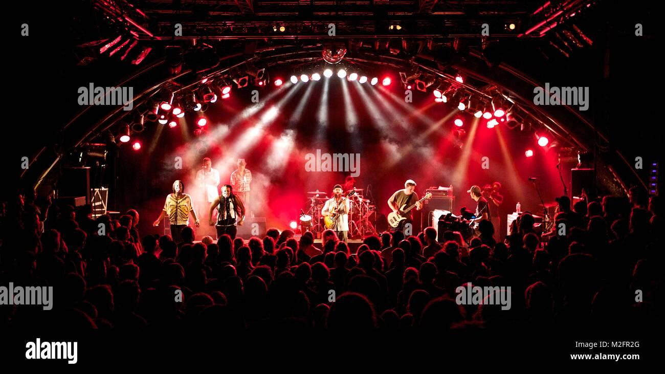 Die kalifornische Reggae-Band GROUNDATION spielte am 04.09.2013 auf ihrer 'Building An ArK' Tour live in - Stock Image