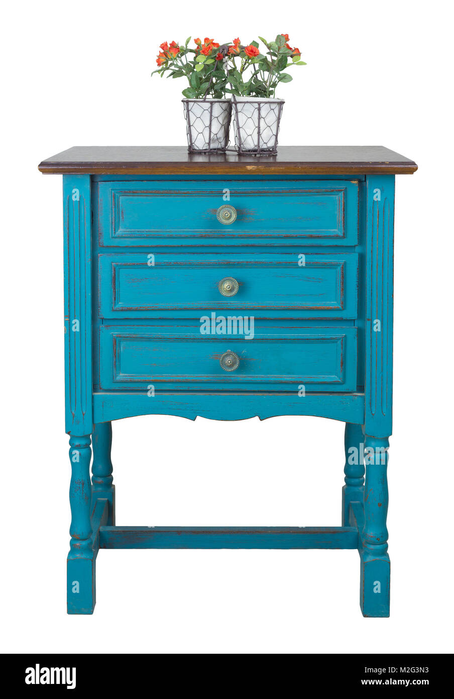 Vintage Furniture Vintage Turquoise Commode Chest Of