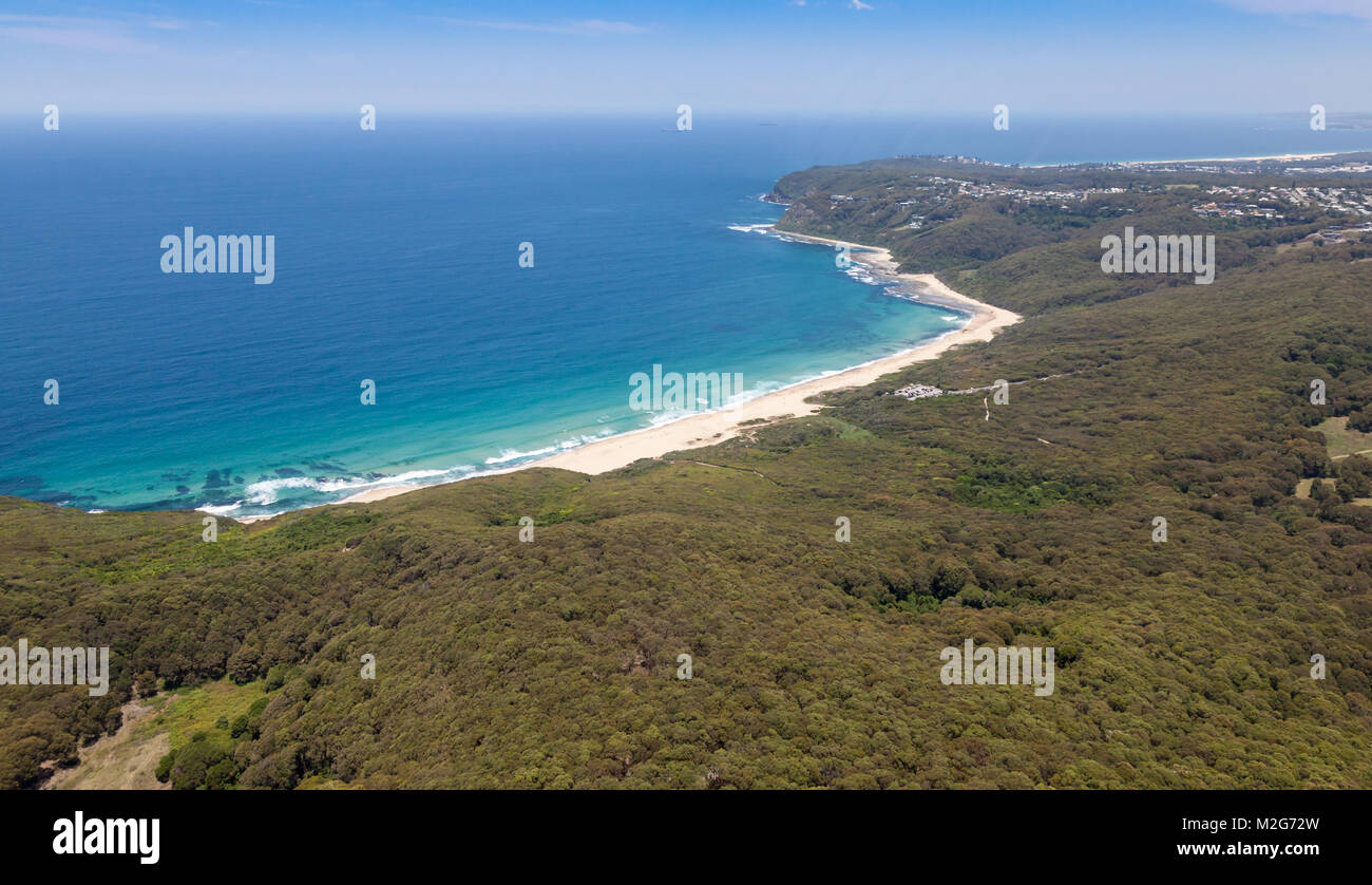 Dudley Beach is one of the many beautiful surfing beaches in the Newcastle region a few kilometers south of the - Stock Image
