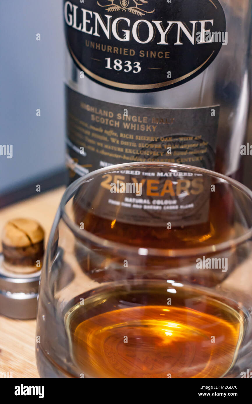 glengoyne 25 year old whisky - Stock Image