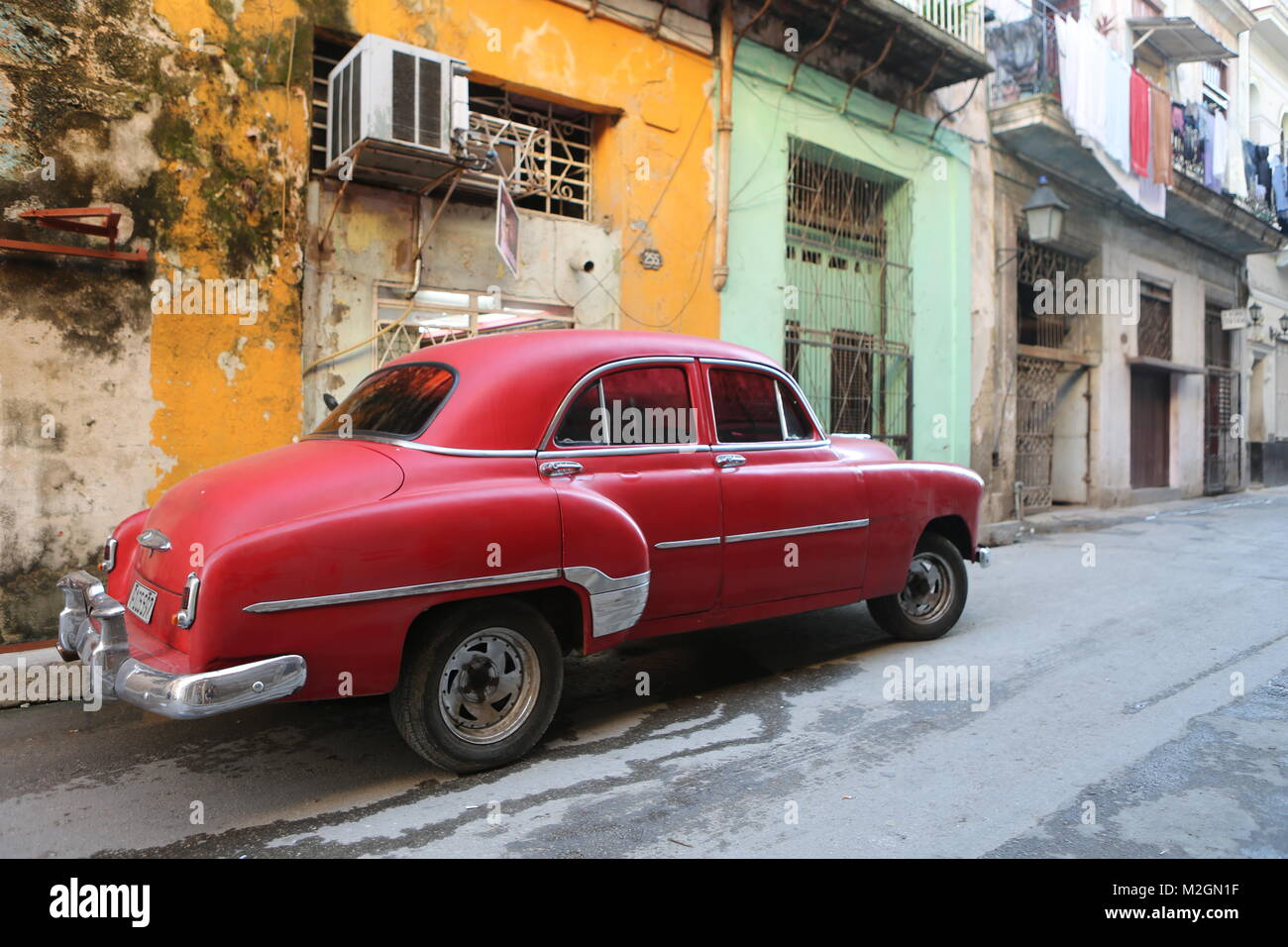 Cars in Street of La Habana - Cuba Stock Photo