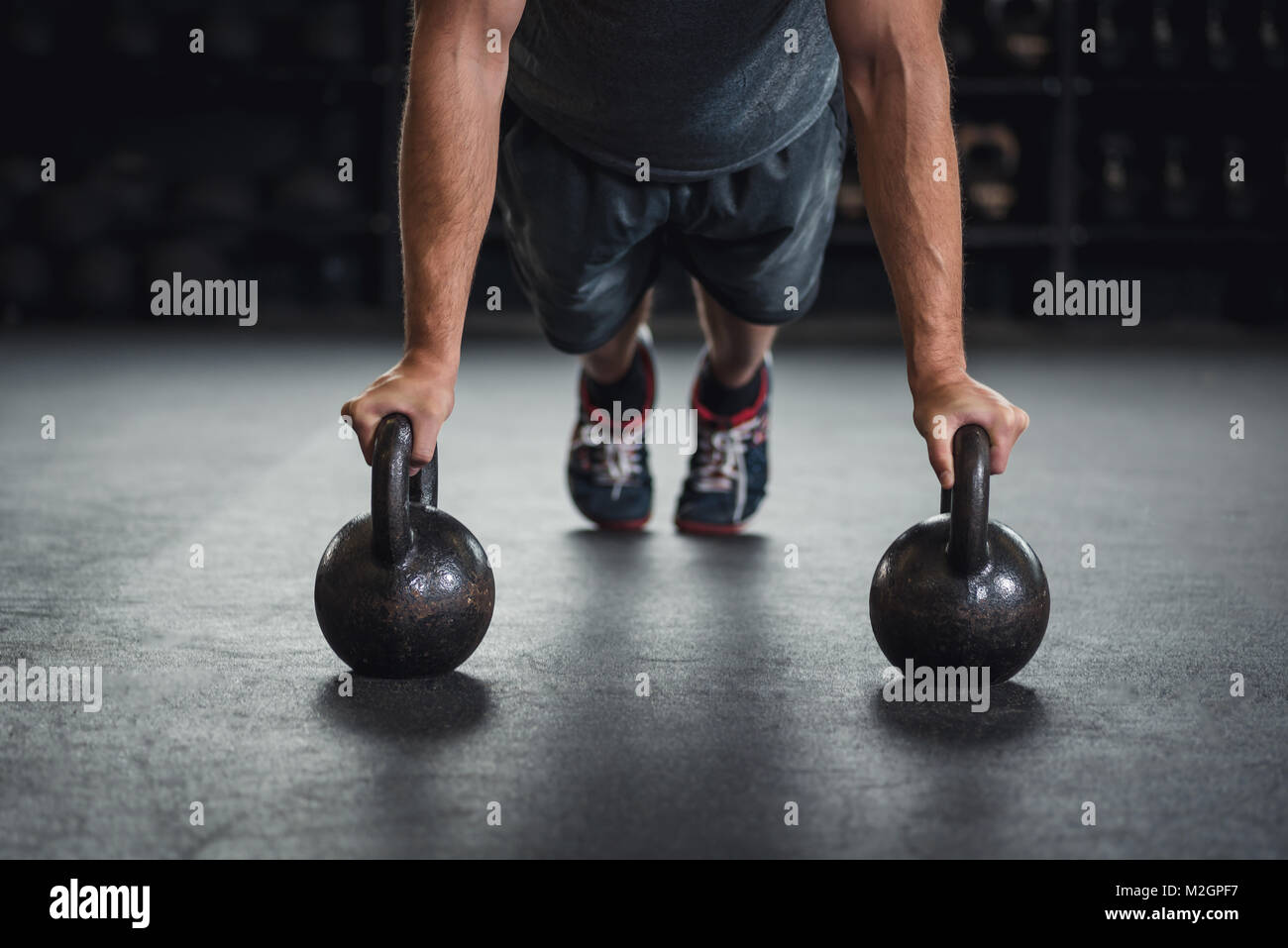 Weightlifting, powerlifting, crossfit, strength training. - Stock Image