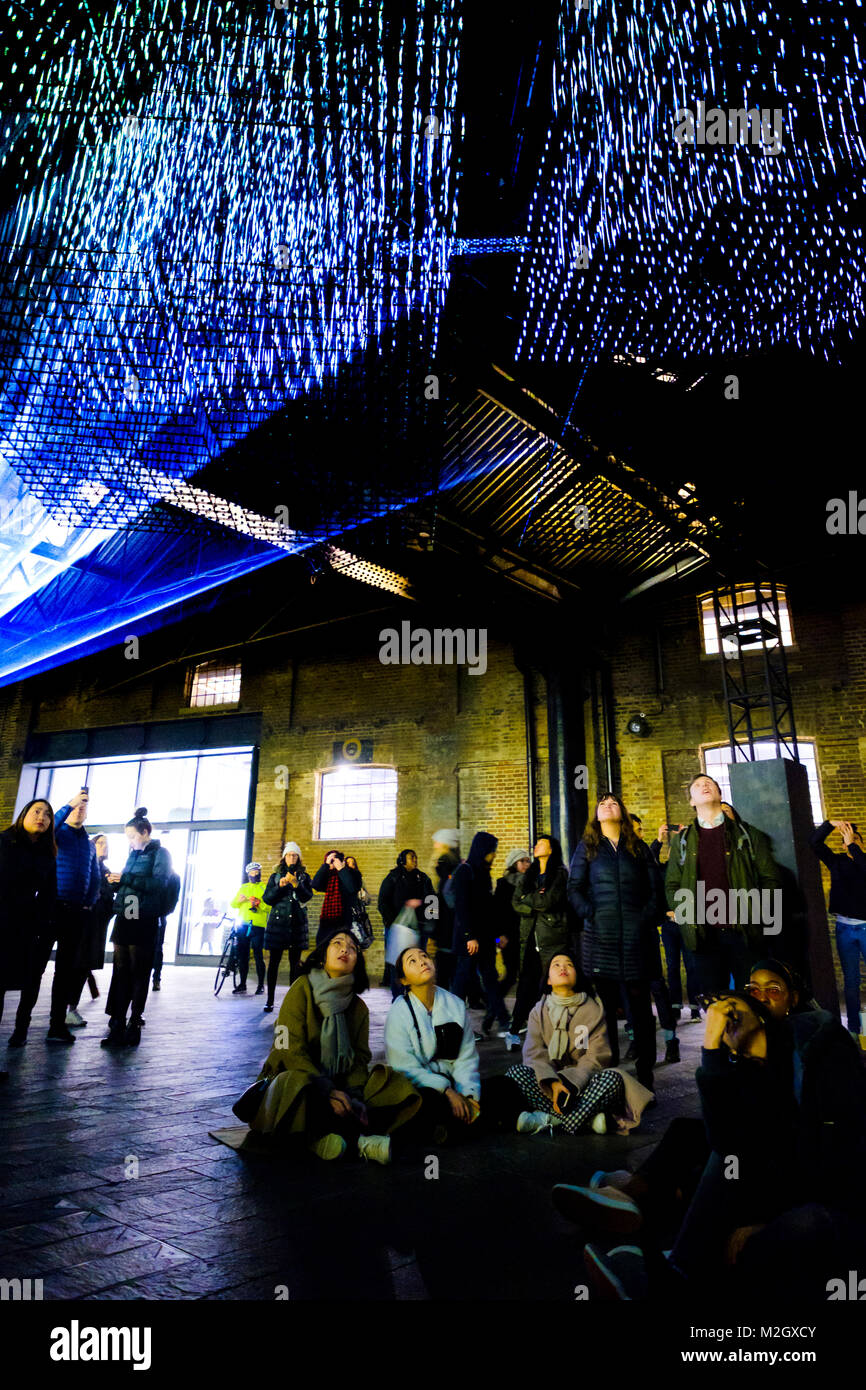 Crowds enjoy Aether by the Architecture Social Club with Max Cooper - an installation within the Kings Cross Area of Lumiere London 2018 on Friday January ...  sc 1 st  Alamy & Crowds enjoy Aether by the Architecture Social Club with Max Cooper ...