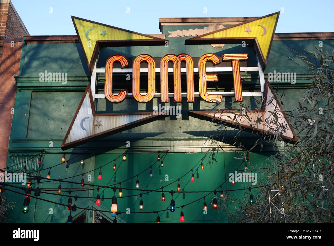 USA Washington DC Comet ping pong pizza controversy Hillary Clinton rumors conspiracy theory exterior - Stock Image