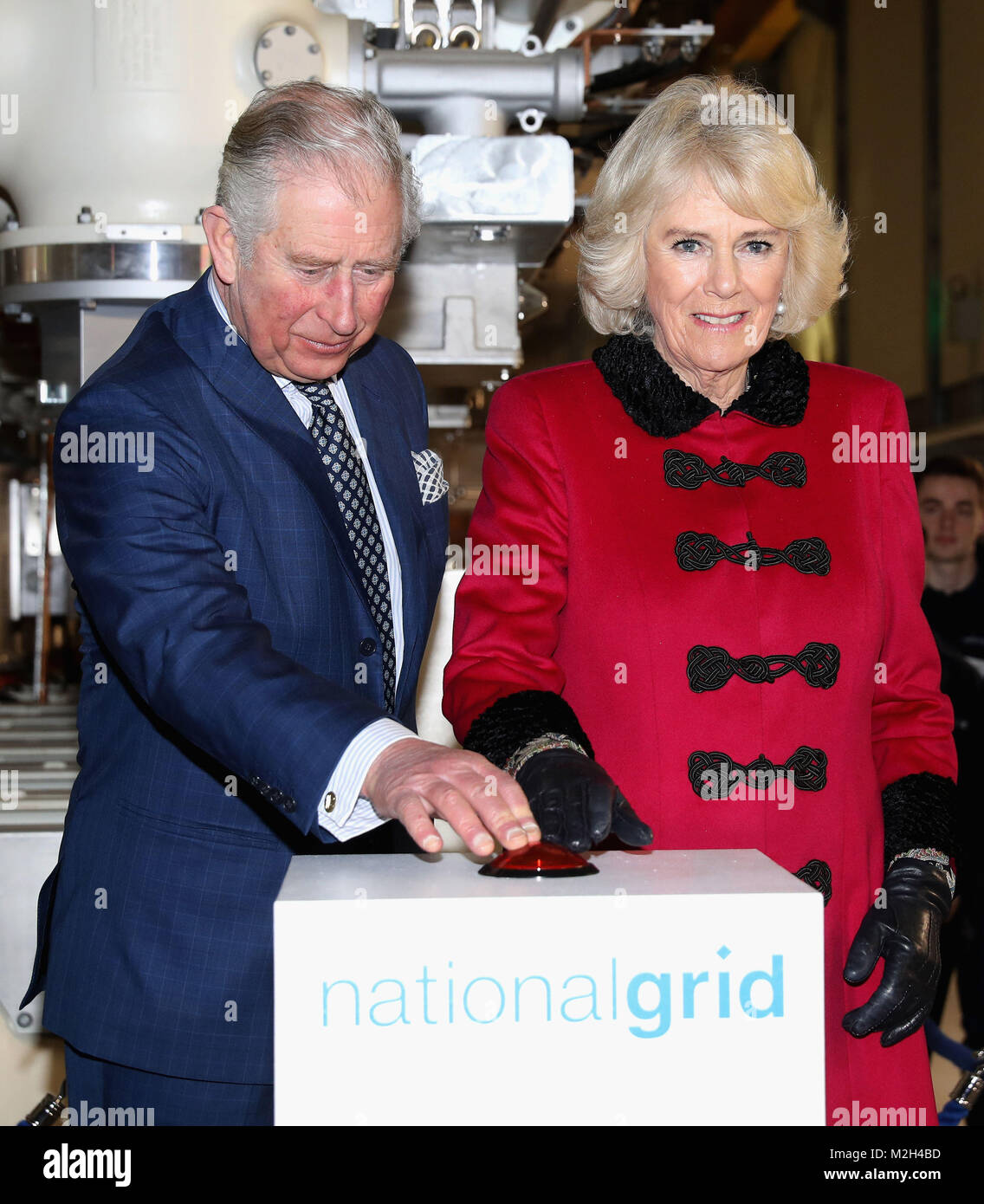 The Prince of Wales and the Duchess of Cornwall officially open The National Grid's London Power Tunnels project, - Stock Image