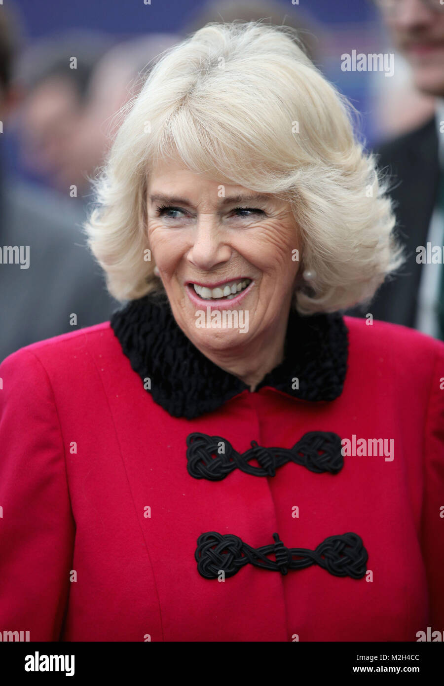 The Duchess of Cornwall during the official opening of The National Grid's London Power Tunnels project, a new - Stock Image