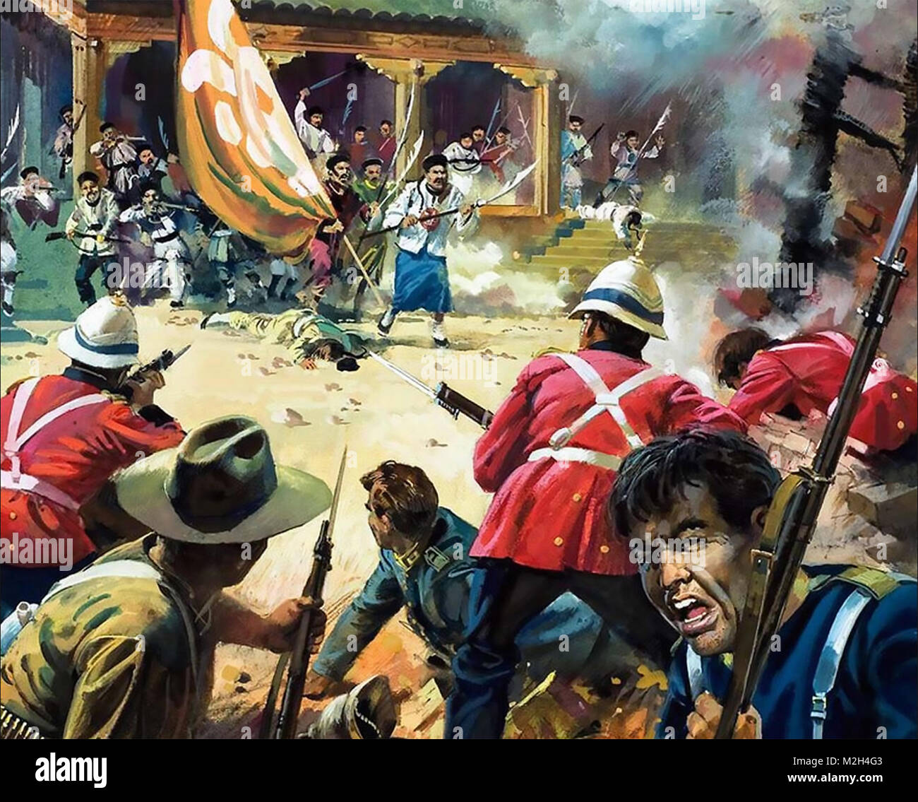 BOXER REBELLION 1899-1901. Defence of the British Embassy. - Stock Image