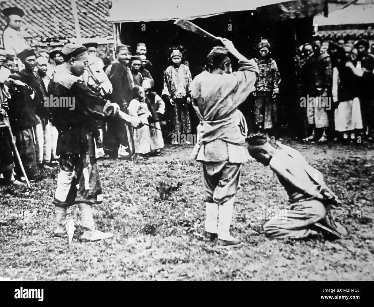 BOXER REBELLION 1899-1901. Unidentified atrocity. - Stock Image