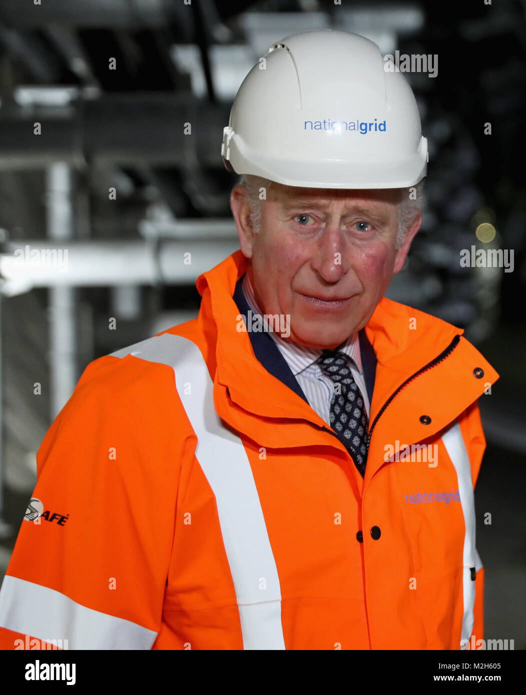 The Prince of Wales during the official opening of The National Grid's London Power Tunnels project, a new electricity - Stock Image