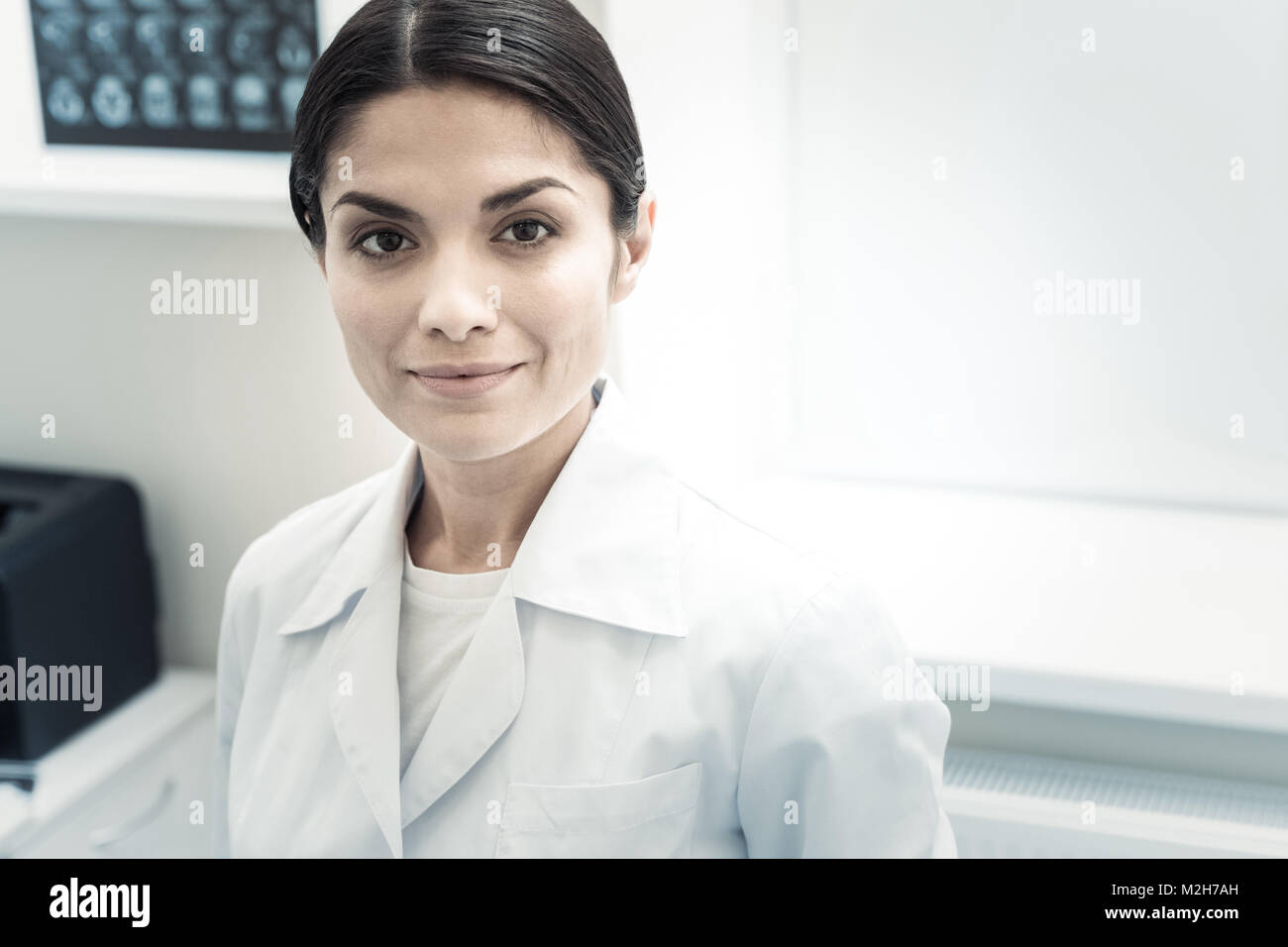 Portrait of a professional skillful doctor - Stock Image