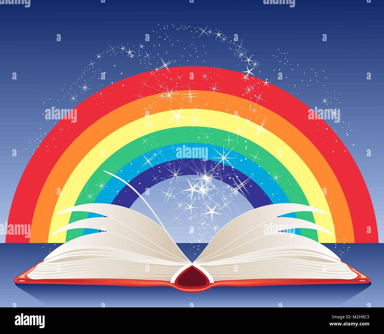 Картинки книга и цветы и радуга, еда