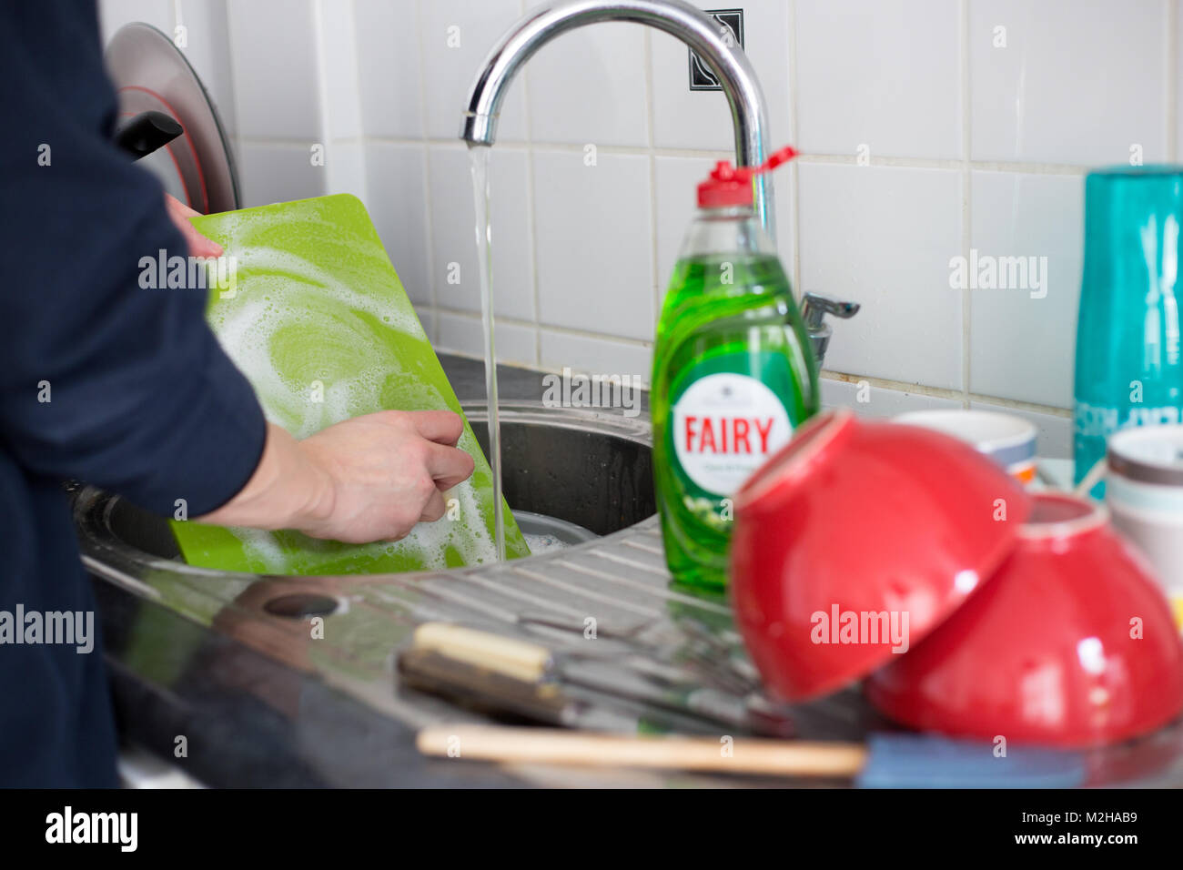 CARDIFF, UNITED KINGDOM.  7 February 2018.  Stock image for use in article detailing harmful effects of washing - Stock Image