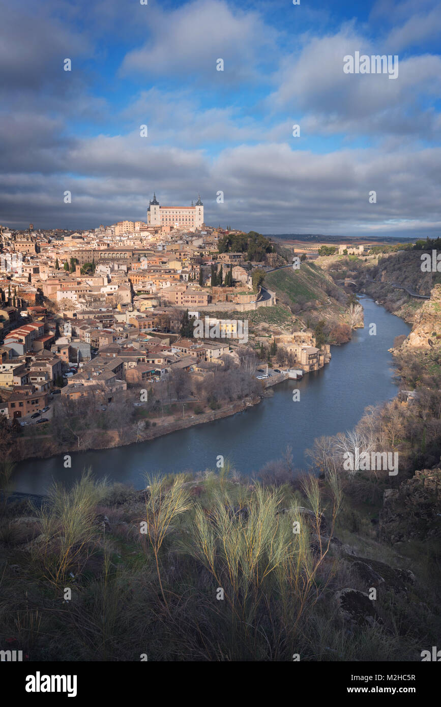 Scenic view of Toledo medieval city skyline, Spain. - Stock Image