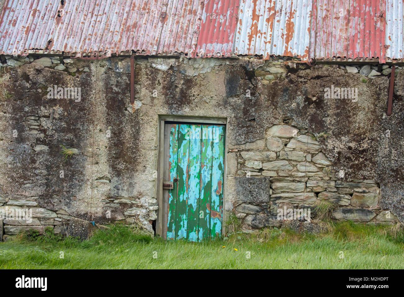 Old stone cottage, Achill Island, County Mayo, Ireland. - Stock Image