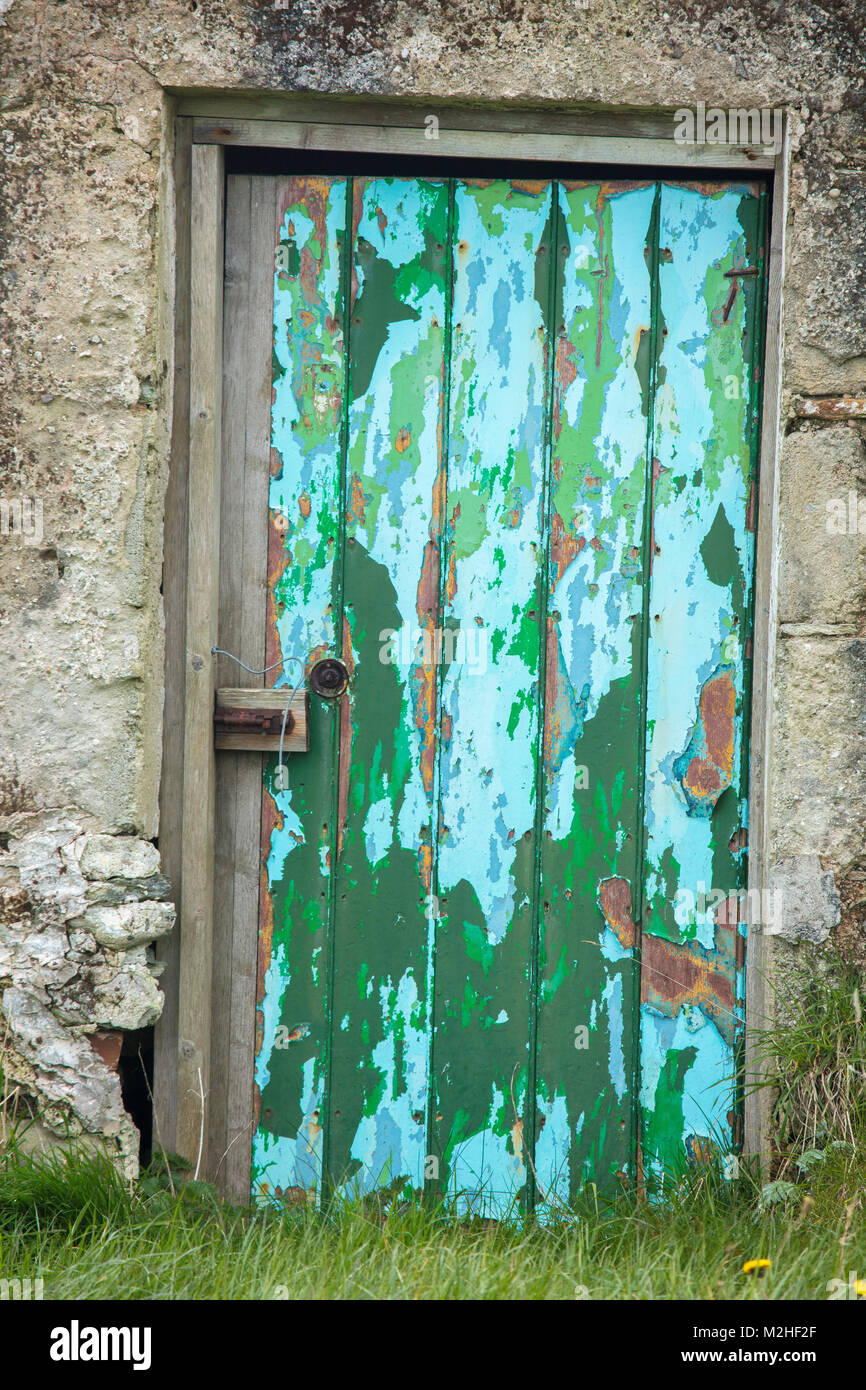 Old cottage door, Achill Island, County Mayo, Ireland. - Stock Image