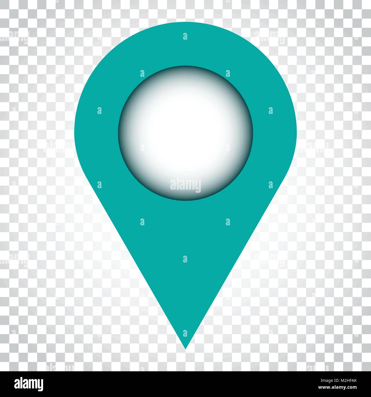 Pin icon vector. Location sign in flat style on isolated background. Navigation map, gps concept. Simple business - Stock Vector