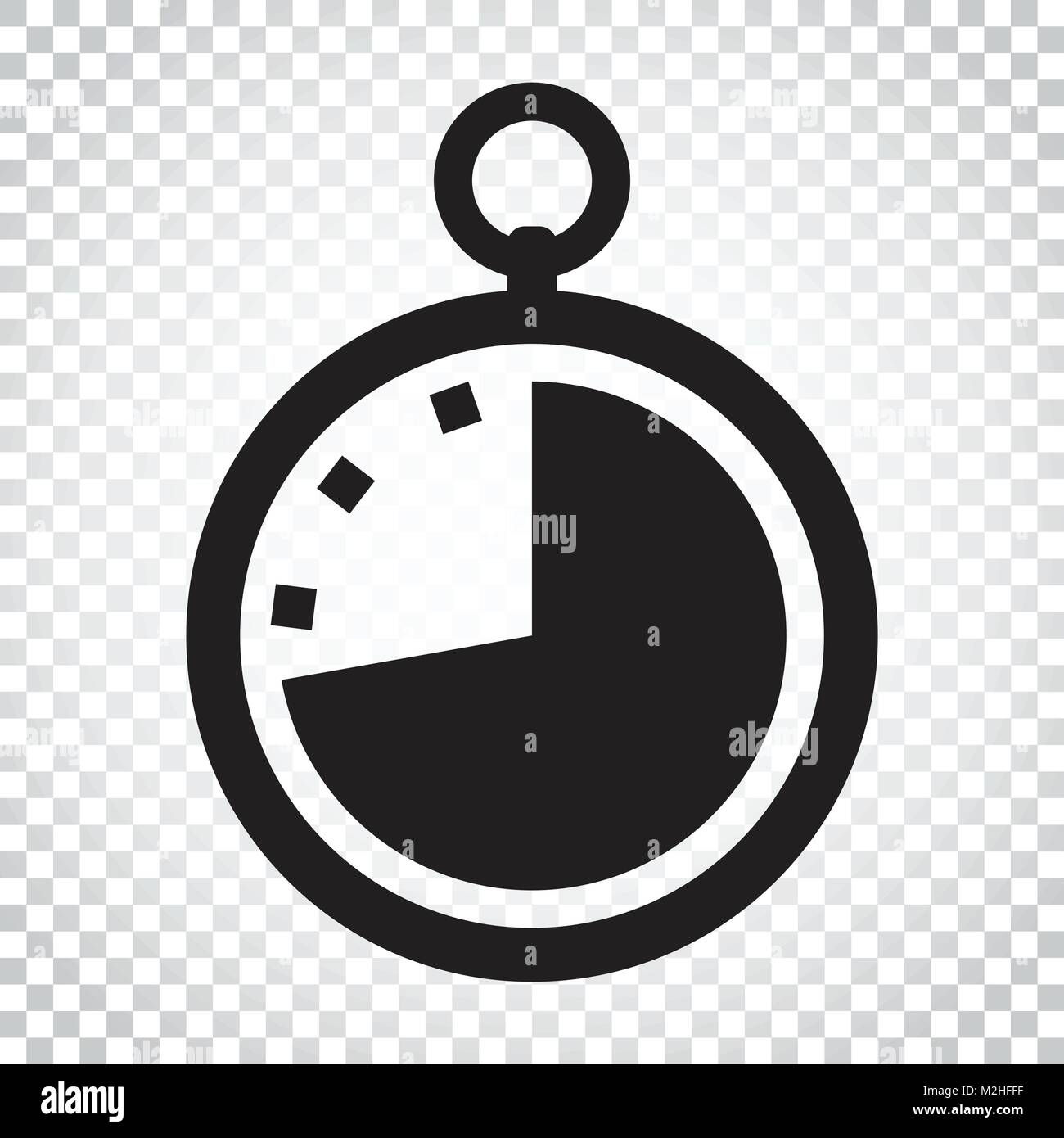 Timer icon illustration  Flat vector clock pictogram  Simple