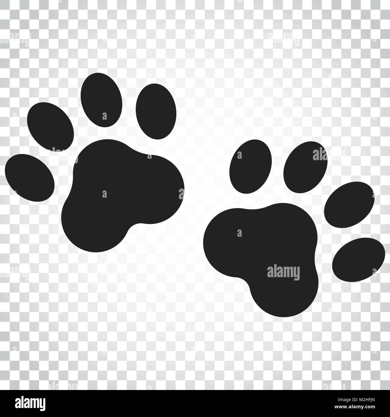 Paw Print Vector Icon Dog Or Cat Pawprint Illustration Animal Stock Vector Art Amp Illustration Vector Image 173718461 Alamy