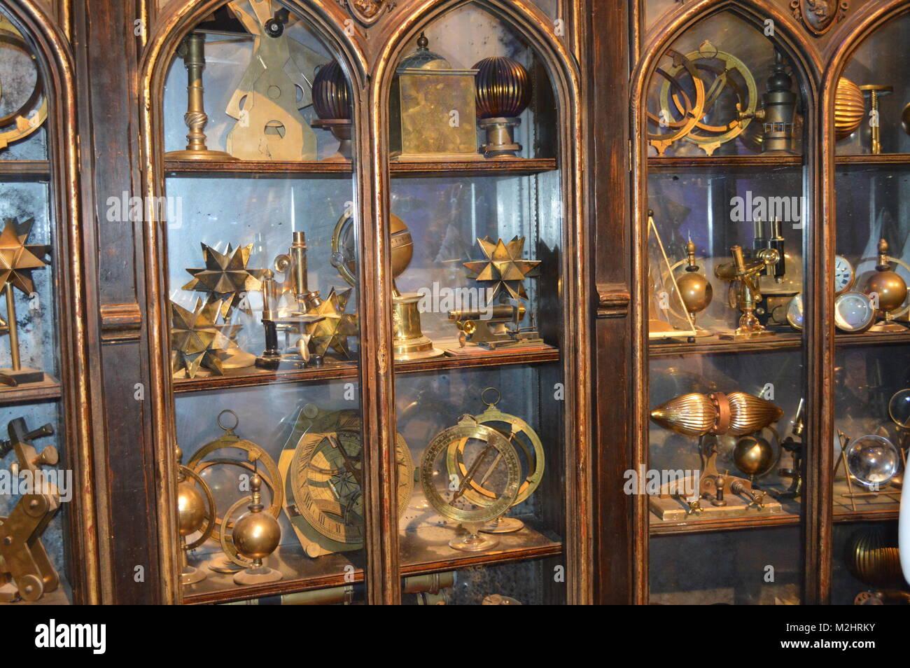 cabinet of curiosities - Stock Image