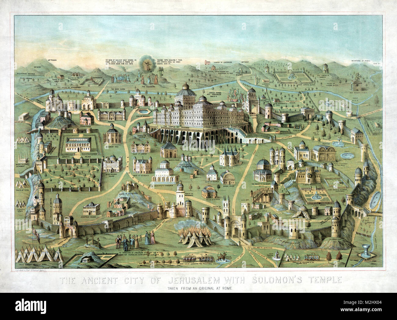 Ancient Jerusalem, Solomon's Temple, 10th Century BC - Stock Image