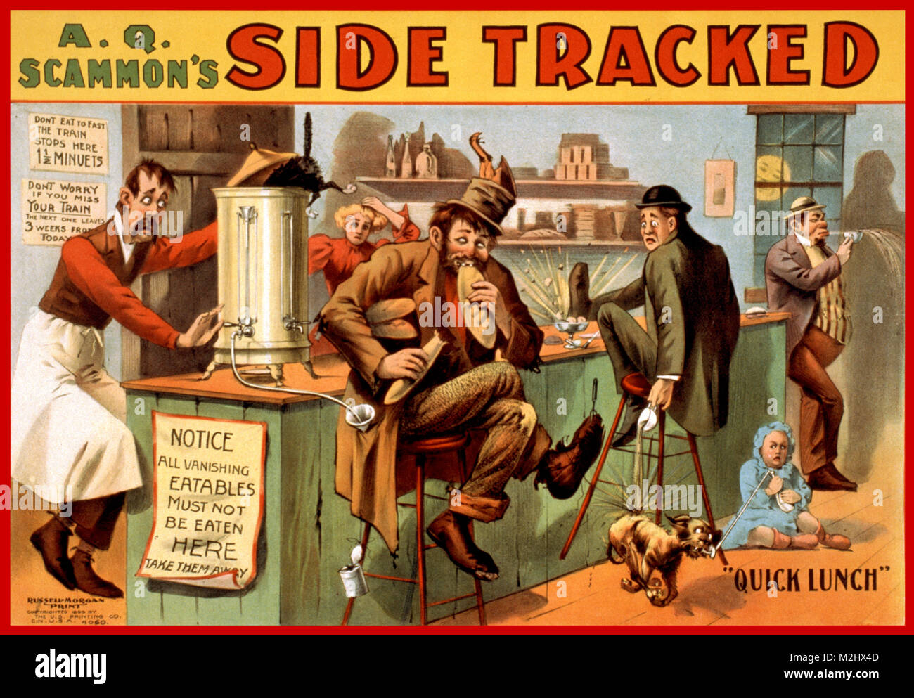 'A.Q. Scammon's Side Tracked', 1899 - Stock Image