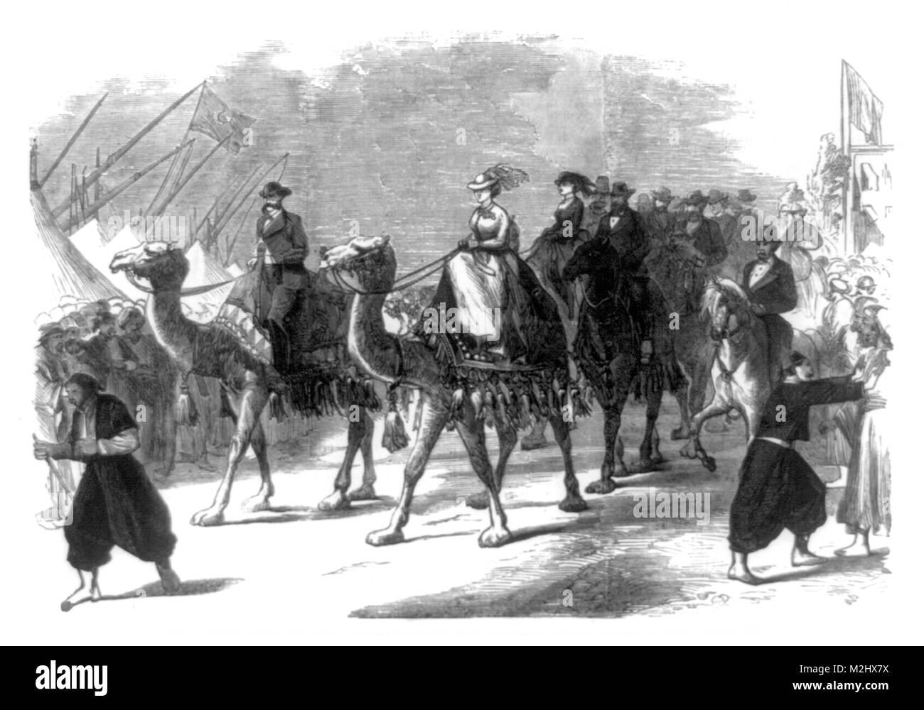 Opening of Suez Canal, Empress Eugenie, 1869 - Stock Image
