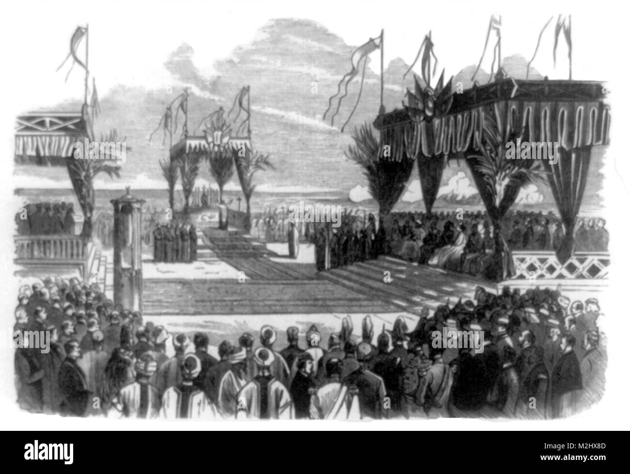 Opening of Suez Canal, 1869 - Stock Image