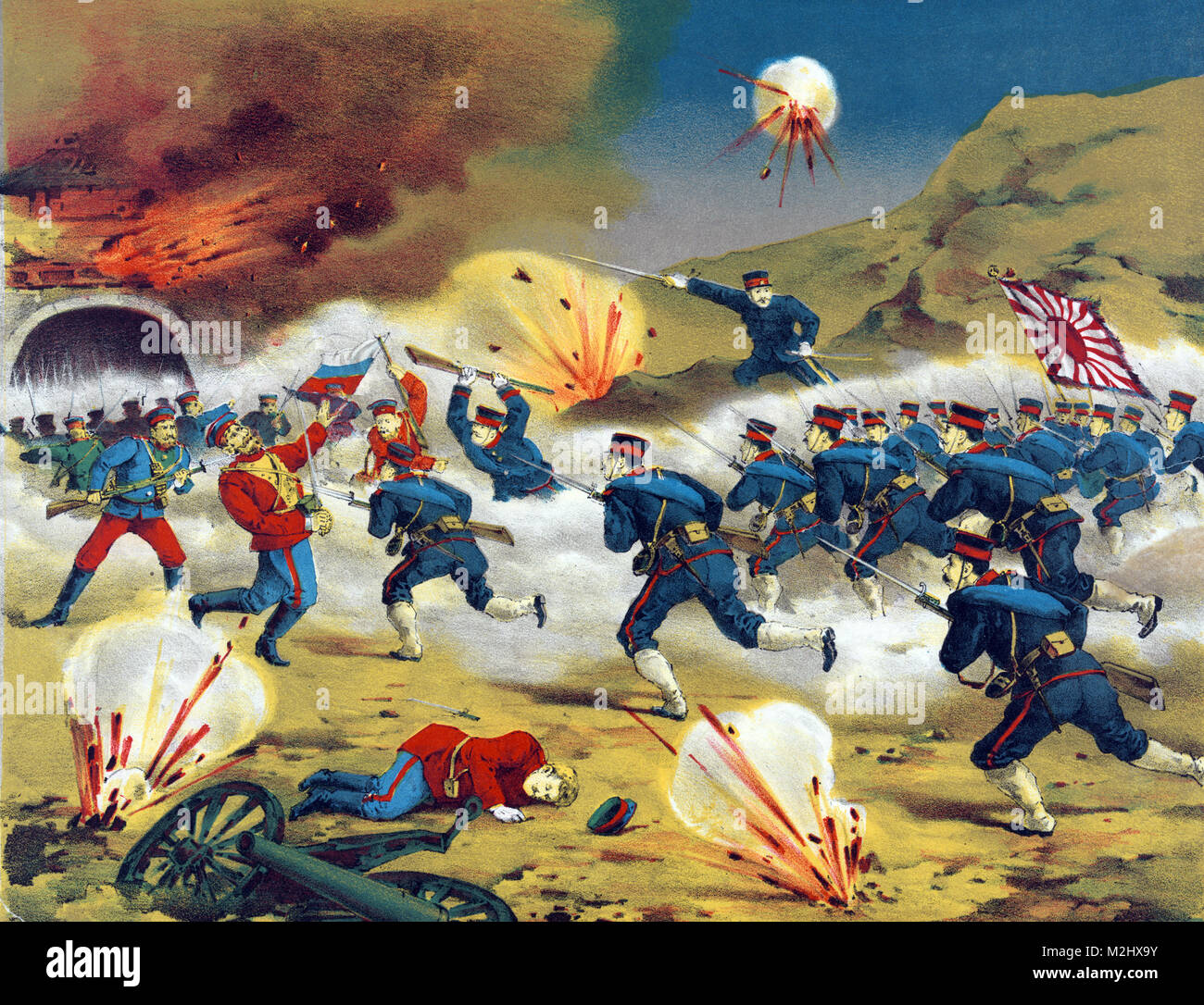 Russo-Japanese War, Battle of Yalu River, 1904 - Stock Image