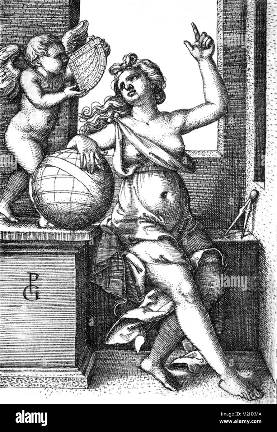Liberal Arts, Personification of Astrology - Stock Image