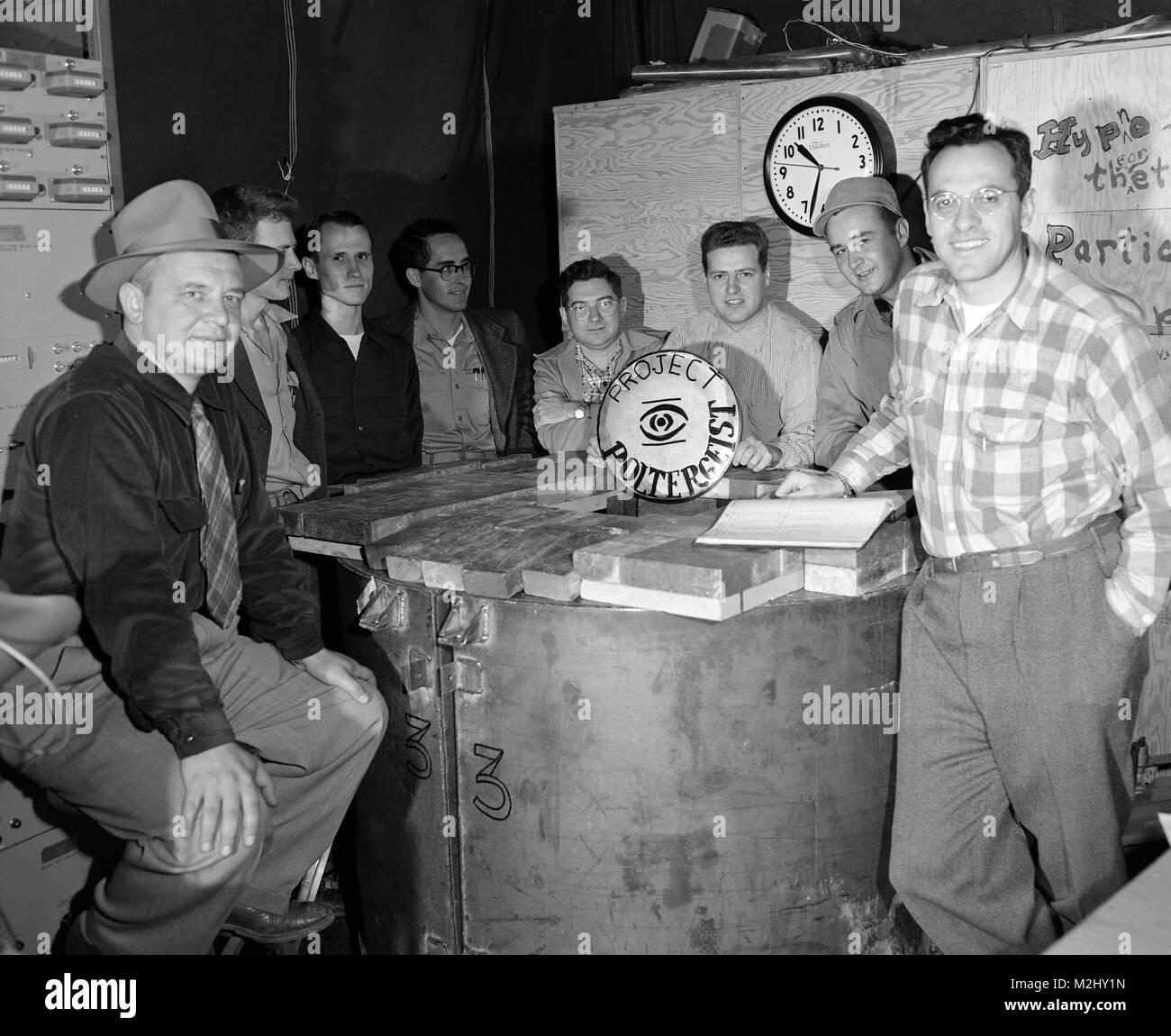 Cowan-Reines Neutrino Experiment, 1953 - Stock Image