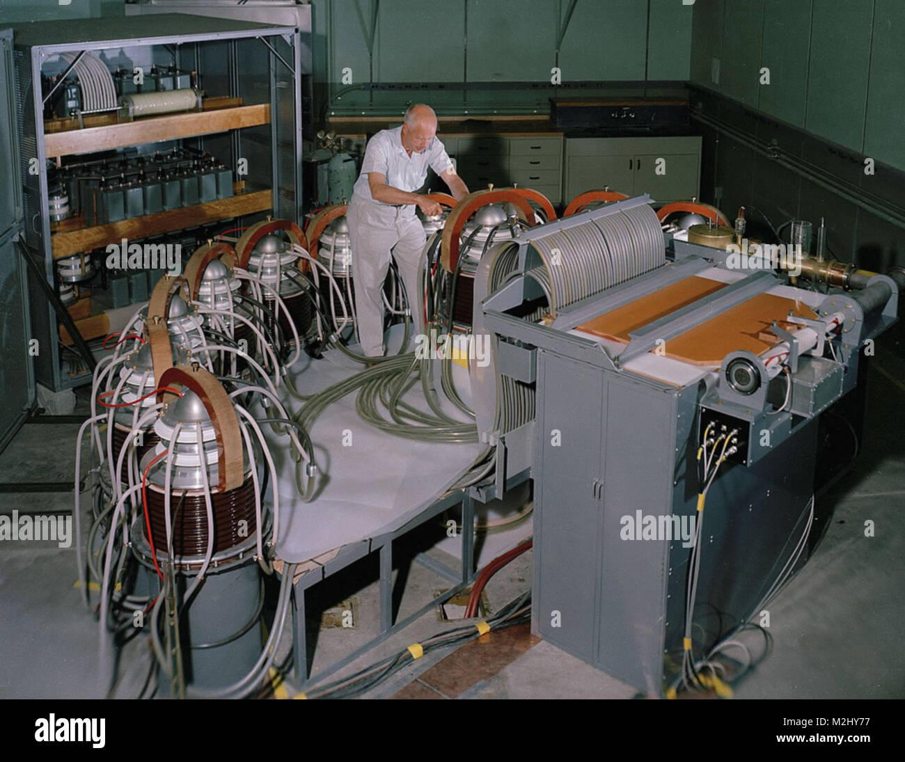 Scylla I, Theta-Pinch Machine, 1958 - Stock Image