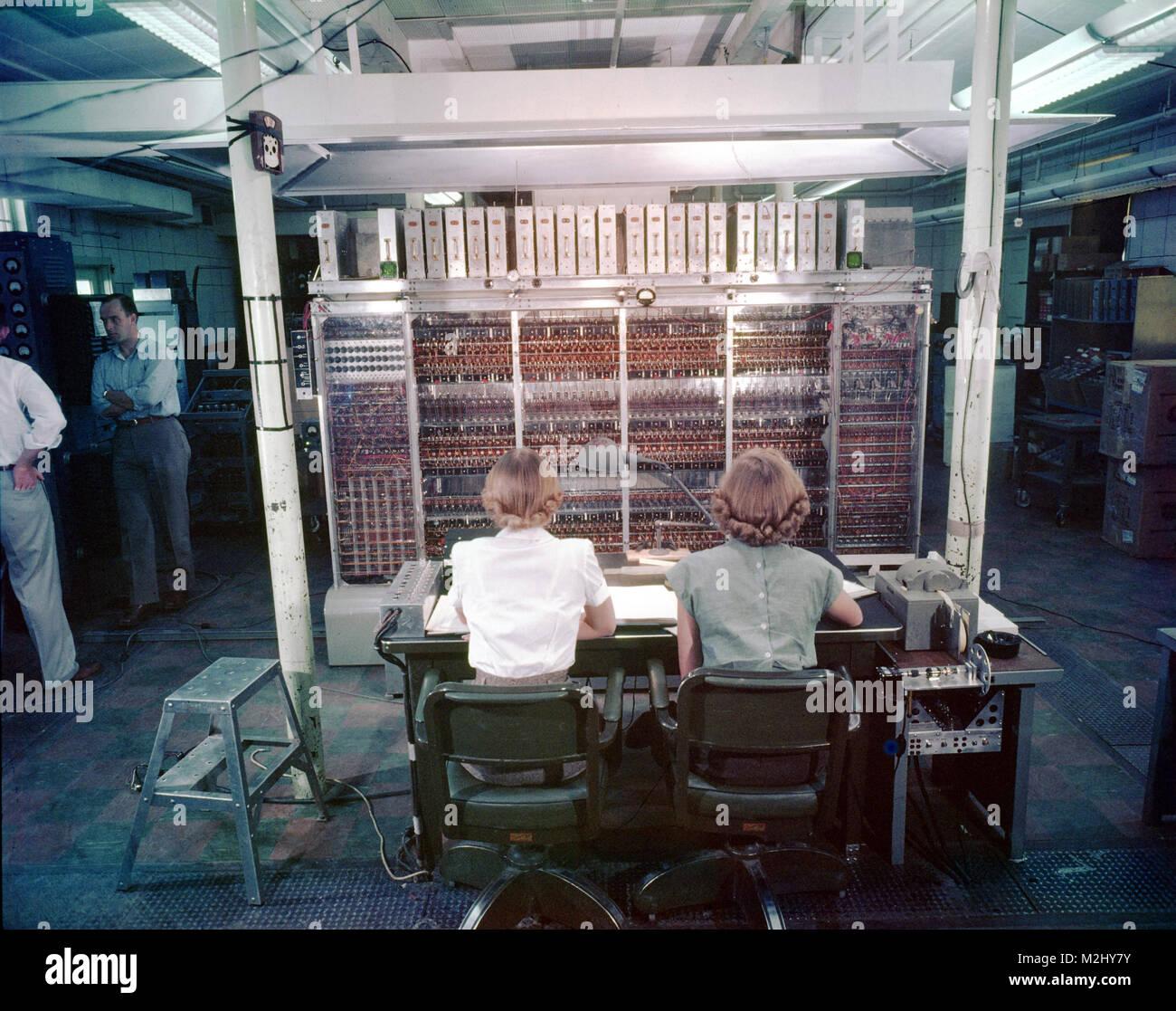 MANIAC-I, Vacuum Tube Computer, 1952 - Stock Image