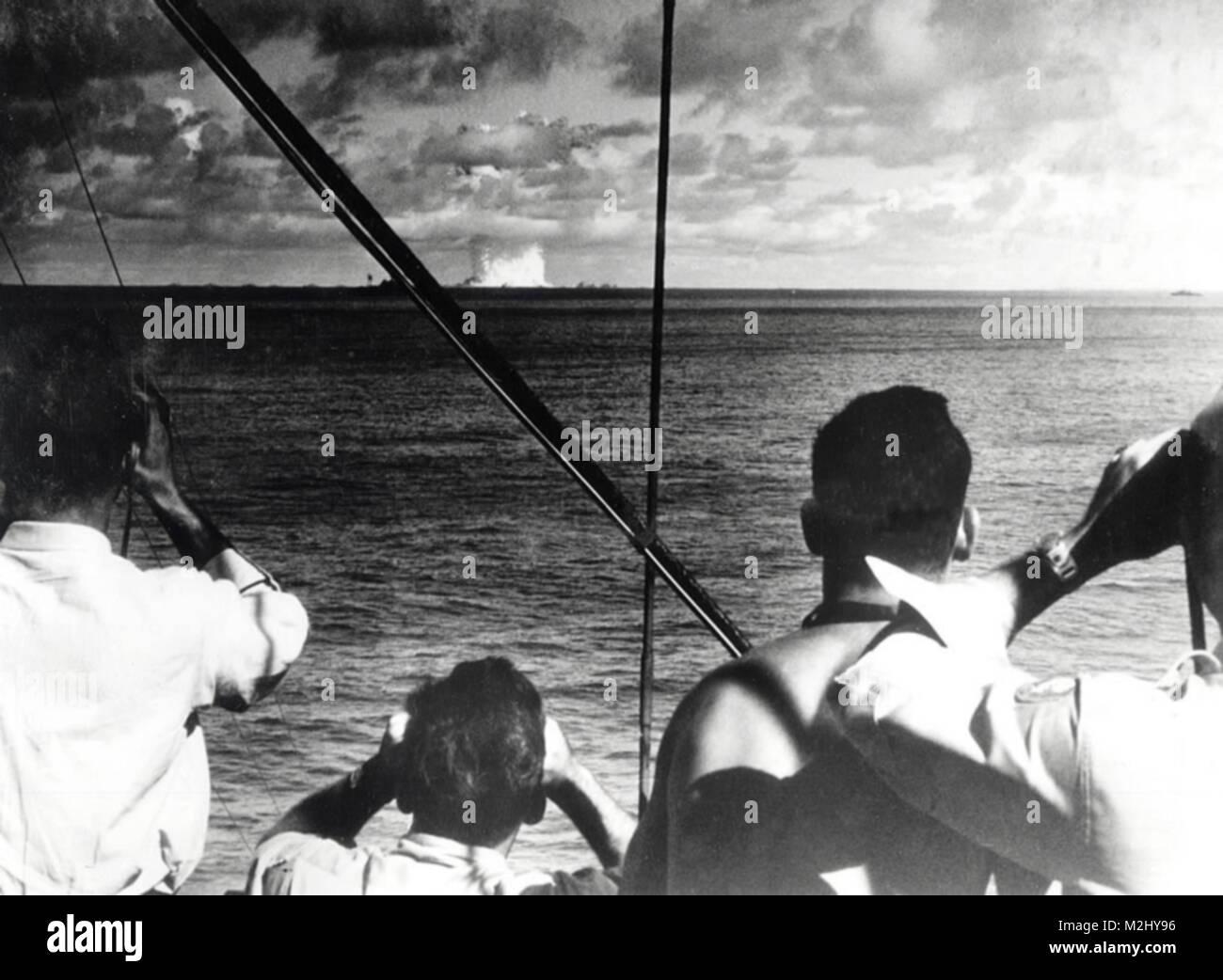 Operation Crossroads BAKER, 1946 - Stock Image