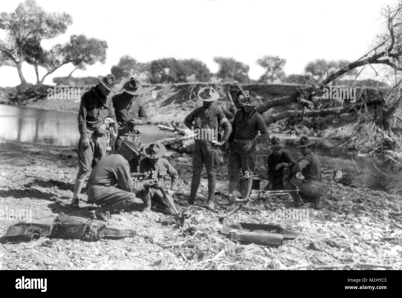 Pancho Villa Expedition, 16th Infantry, 1916 - Stock Image