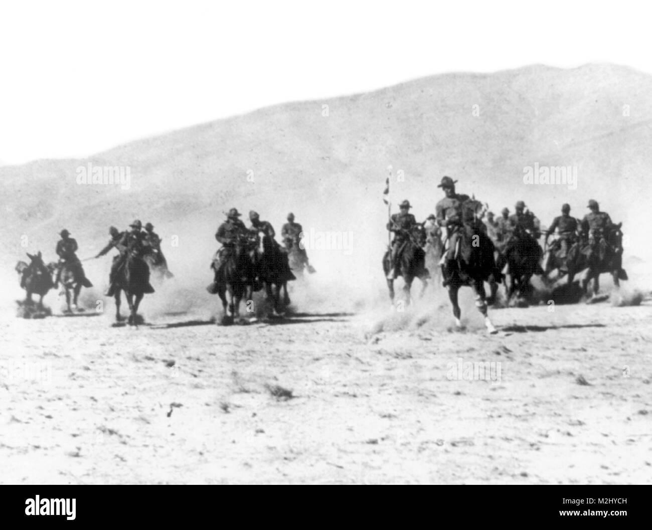 Pancho Villa Expedition, 8th Gun Cavalry, 1916 - Stock Image
