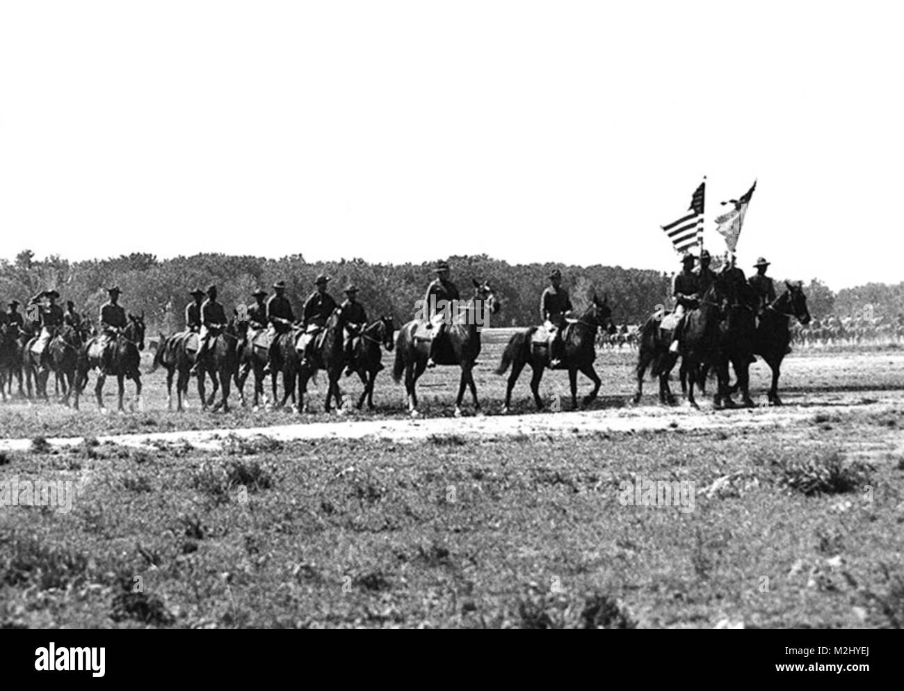 Buffalo Soldiers, 9th Cavalry Regiment, 1941 - Stock Image
