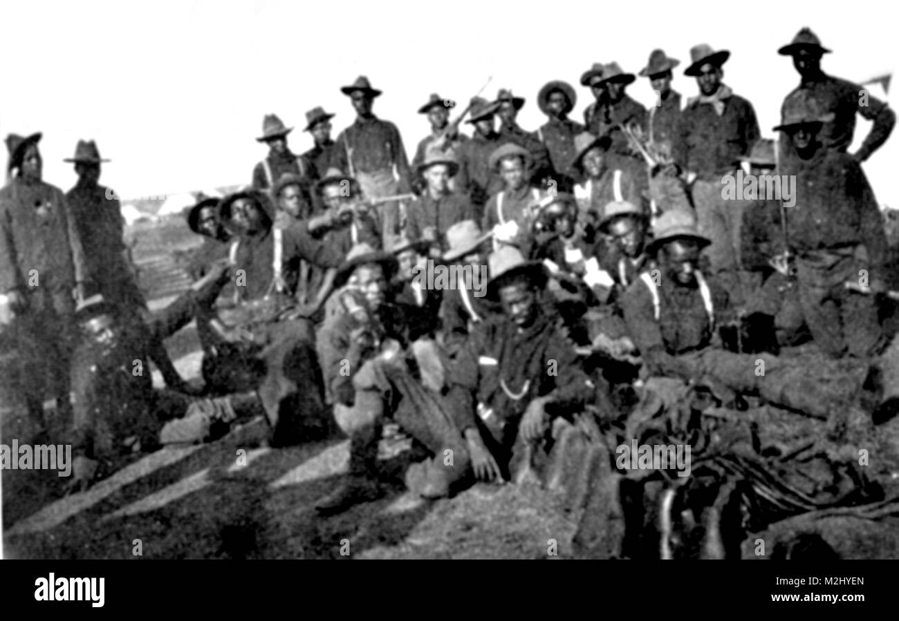 Spanish-American War, Buffalo Soldiers, 1899 - Stock Image