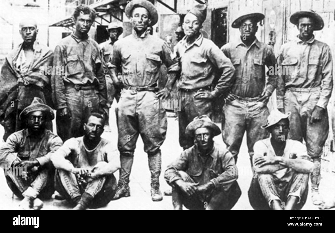 Pancho Vill Expedition, 10 Cavalry POW's, 1916 - Stock Image